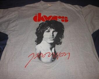 1983 The Doors t shirt - jim morrison - vintage 80s rock band - screenstars XL  sc 1 st  Etsy & Vintage doors tshirt | Etsy pezcame.com