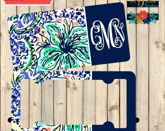 Personalized License Plate and Frame Set ~ Floral License Plate Frame Set ~ Lilly Pulitzer License Plate and Frame Set ~ Summer Car Plate