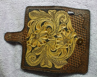hand carved western iPhone 6 Plus Phone Case, iPhone 6 Plus wallet