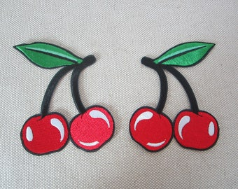 Red Cherry Patches Iron On