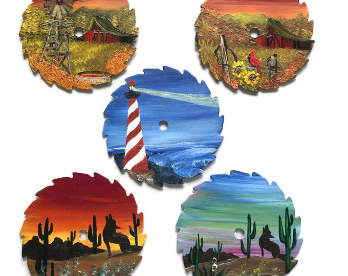 Miniature Saw Round Saw Magnet Mountain Scenery All 5 for One Price
