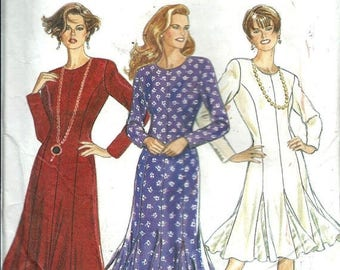 ON SALE New Look 6090 Misses Gored Dress Pattern, Three Styles, 8-18 UNCUT