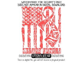 Distressed Flag Hope breast cancer SVG/DXF/PNG Digital Cut File