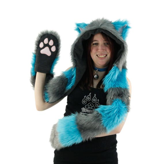 Girls Hat and Paws Costume