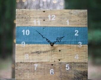 ORIGINAL Reclaimed Pallet Wood Wall Clock (Flood Tide)
