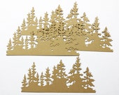 Tim Holtz Thinlits Tree Line Card Stock Set of 4