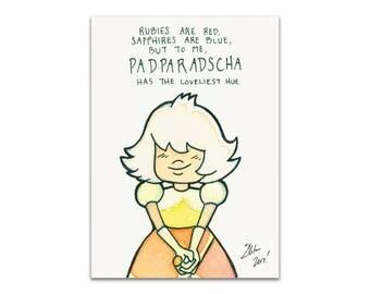 "Padparadscha - 5""x7"" Print"