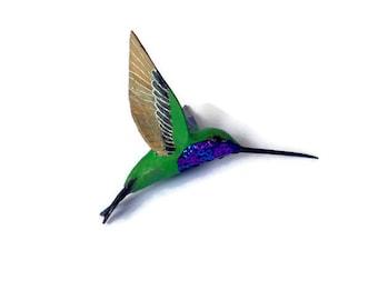 Hummingbird Art Paper mache Sculpture Colibri figurine