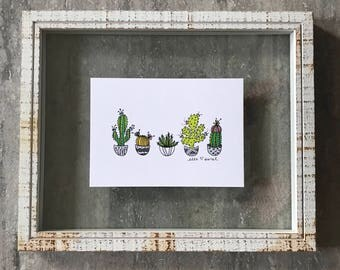 Cactus Garden - Elle Karel Illustration