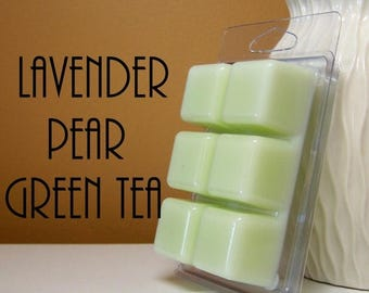 ON SALE - Lavender Pear Green Tea Scented Wax Tarts Melts
