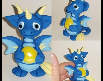 Polymer clay gem dragon