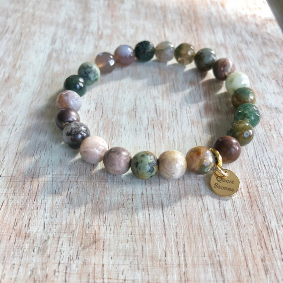 Genuine Indian Agate Stone Bracelet