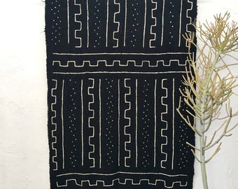 Mud cloth Fabric   African Mudcloth fabric African Mud Cloth Textile Home Decor Tribal Fabric Wall Decor Black Mudcloth Mudcloth Throw #33