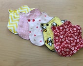 Lip liners - set of 5 washable cloth pantyliners/thong liners