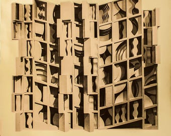 Louise Nevelson-At Pace Columbus (Gold)-1977 Foil Print