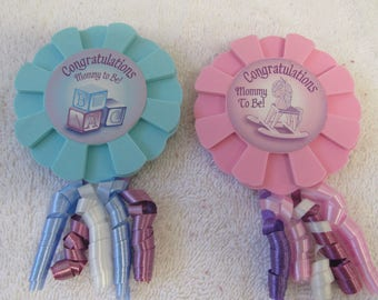 Congratulations Mom to Be for Baby Shower Or Party - Craft Supplies  - Pink or Blue - CLOSEOUT SALE 3.00