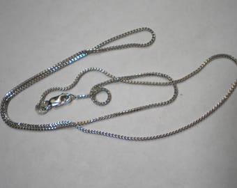 Vintage 14k White Gold Foxtail Weave Chain 18 Inches 3 Grams