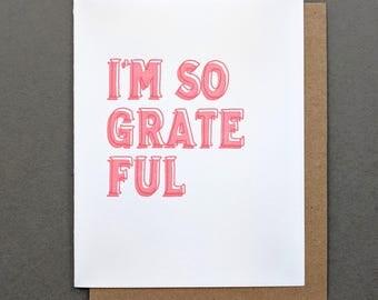 I'm So Grateful Thank You Card, Best Friend, Thank You Cards, Thank You, Best Friend Gift, Best Friend Card