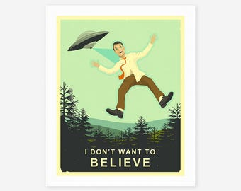 I Don't Want to Believe (Giclée Fine Art Print/Photo Print/Poster Print) by Jazzberry Blue