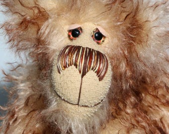Stripy Pete is a cheerfully comical and contagiously friendly, one of a kind, artist teddy bear made from wonderful mohair by Barbara-Bears