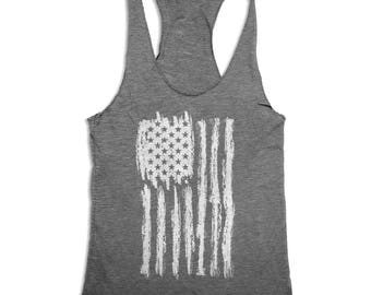 10% OFF SALE, 4th of July Tank Top - United States of America - Women's 4th of July - American Flag Tank Top - Merica