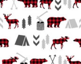 Woodland Camping Crib Skirt - 2 colors