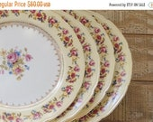 ON SALE Vintage Gold Castle Hostess China Dinner Plates Set of 4 Mid Century Made in Japan