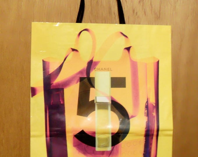 Vintage c2000 Chanel No. 5 Perfume Promotional Large Paper Shopping Bag Designer Fragrance Collectible