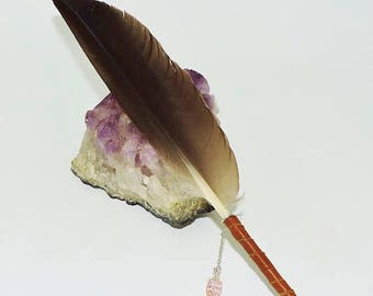 Goose feather quill dip pen Calligraphy Love Letters Spell-writing Book of Shadows Journaling Wicca Pagan SCA  Art work RTS ready to ship