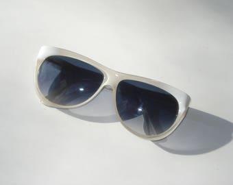 Anne Klein Riviera Sunglasses 1980s  - Fashion White Shades