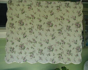 floral print pillow sham quilted pillow sham with scalloped edges single standard bed