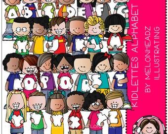 Kidlettes Alphabet clip art - COMBO PACK