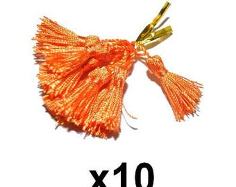 10 charms Orange tassels tassels 4.5 / 5cm