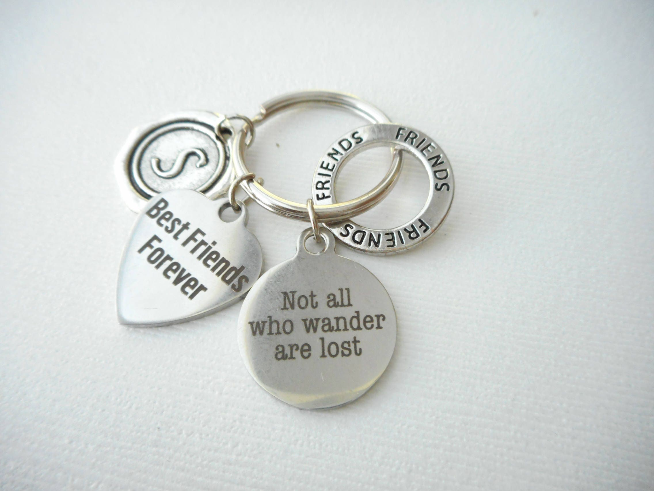 Gift For Friends Key Ring Gift Personalized Goodbye Gift Idea