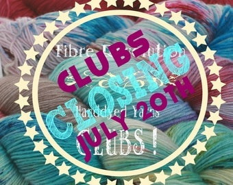 Yarn Clubs are Closing - 3 Month Membership: August-September-October - Grab Your Club Now