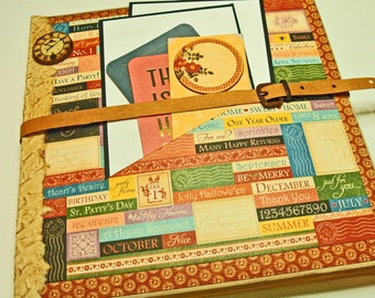 Calendar Year-in-Review Folio-Style Scrapbook Album