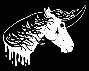 Black Hole Sun Unicorn - Unicorn Art - Print - Free shipping