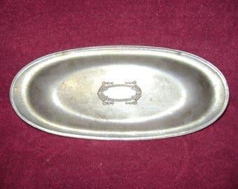 1930's aluminum serving tray