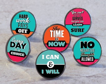 Inspirational Sayings Quotes Cupboard Door Drawer Knobs