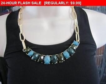 Bead bib necklace, statement necklace, estate jewelry