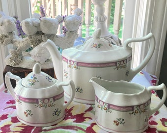 Laura Ashley Tea Set Alice Pattern Made in England mint