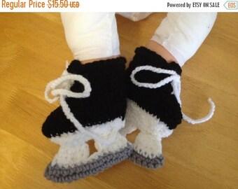 SALE crochet hockey skates
