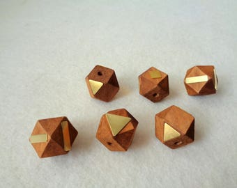 Hexagon Wood Beads,