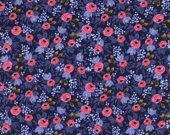 Rifle Paper Co Floral Table Runner in Rosa Navy