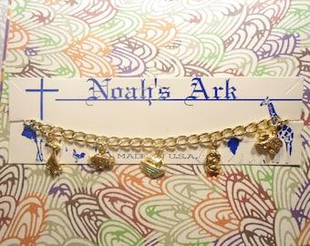 2 Goldplated Noah's Ark Children's Bracelets