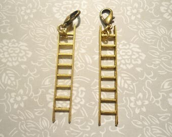 1 Pair of Anthropologie Goldplated Ladder Charms Earring Dangles
