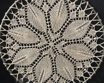 Vintage Crocheted Doily Light Catcher Hanger