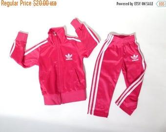 SALE Vintage Girl's Adidas Trefoil Pink Set