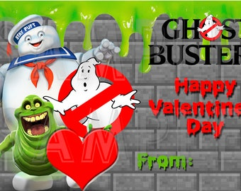 Ghostbusters Valentine's Day- Cards /Gift Tags - Printable DIY File