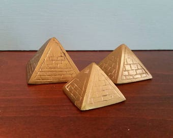 Three Brass Pyramids - Free Shipping